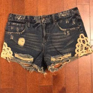 Free People Shorts w/ Lace